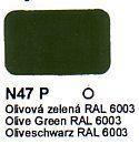 N47 P Olivová zelená RAL 6003 Agama