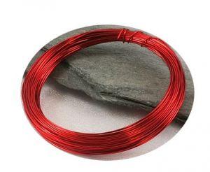 Barevný drát 0,3mm/5m červený