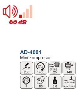 Airbrush Kompresor MA 4001 Mar Aerograf