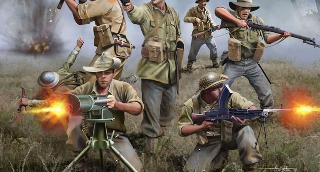 AUSTRALIAN INFANTRY WWII Revell
