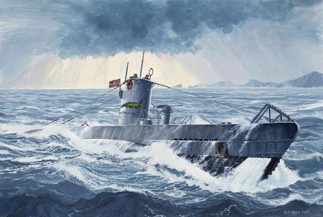 German Submarine TYPE IIB Revell