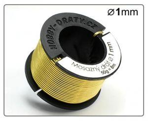Mosazný drát 1mm / 50g / 8m
