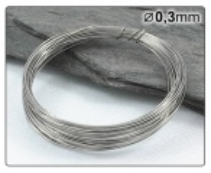 Nerezový drát 0,3mm/5m