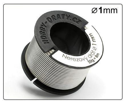 Nerezový drát 1mm / 50g / 8m