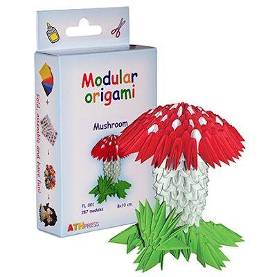 Papírove Origami sada - Mochomůrka