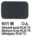 N11 M Středně šedá RLM 75 Agama