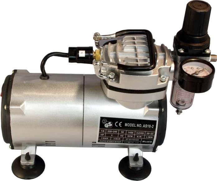 Mini (Airbrush) kompresor AS 18 -(2) s plynulou regulací tlaku Orlík