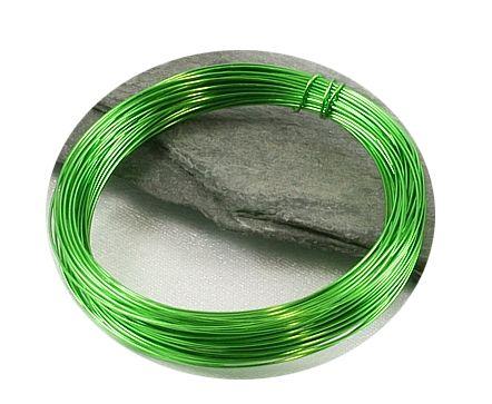 Barevný drát 0,3mm/5m světle zelený
