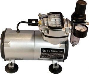 Mini (Airbrush) kompresor AS 18 -(2) s plynulou regulací tlaku + hadice BD-24