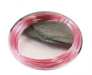 Světle růžový drát 0,3mm/5m
