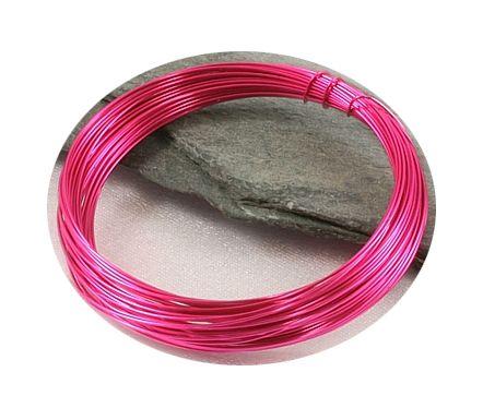 Tmavě růžový drát 0,3mm/5m