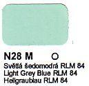 N28 M Světlá šedomodrá RLM 84 Agama