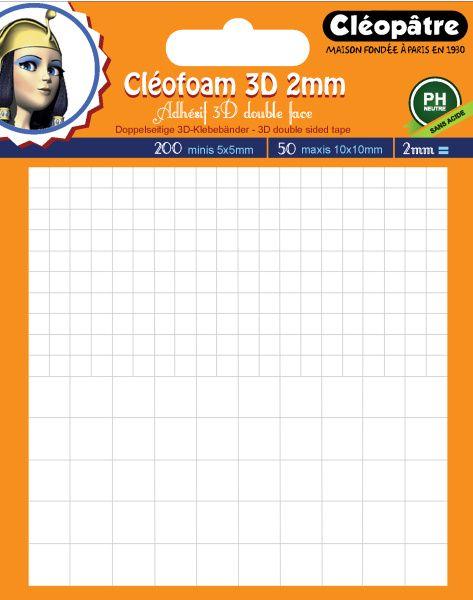 Lepící pěna CLEOFOAM 2mm (200 malých + 50 velkých čtverečků)