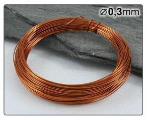 Měděný drát drát 0,3mm/5m