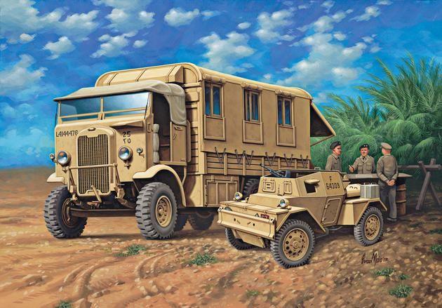 Monty's Caravan Leyland Retriever & Scout Car Revell