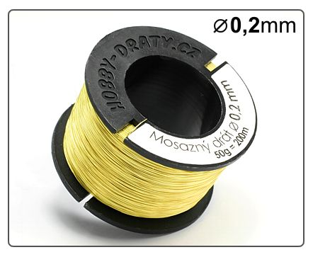 Mosazný drát 0,2/ 50g / 200m