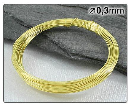Mosazný drát 0,3mm/5m