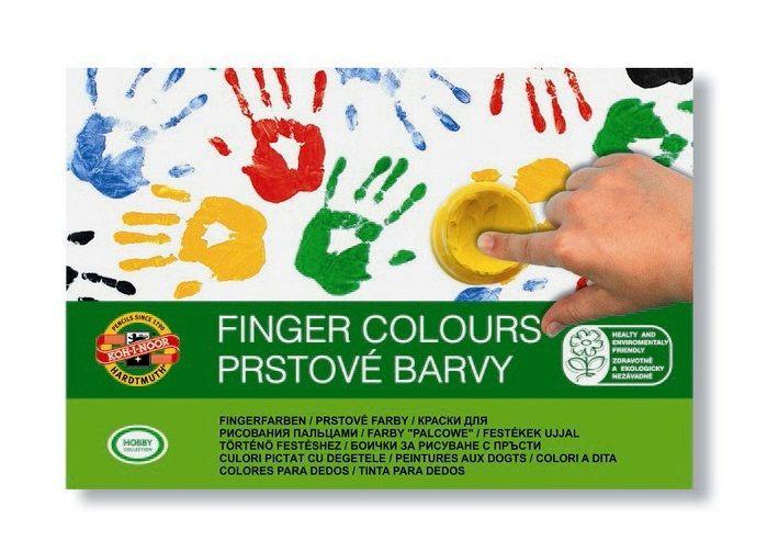 Prstové barvy sada 6ks KOH-I-NOOR