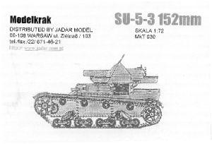 Su-5-3 152MM Modelkrak