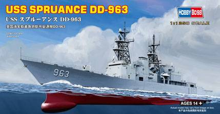 USS SPRUANCE DD-963 Hobby Boss