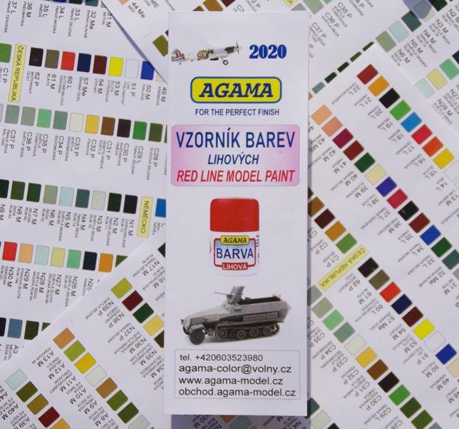 Vzorník barev - Lihových Agama