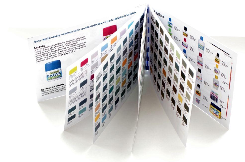 Vzorník barev - tištěný kapesní Agama