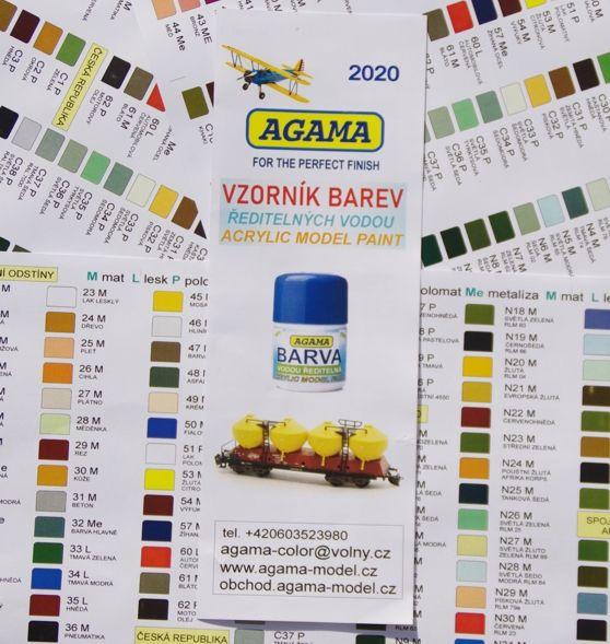 Vzorník barev - Vodových Agama