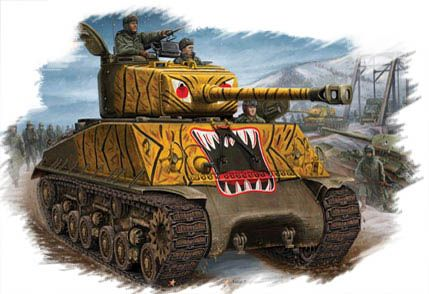 US M4A3E8 Tank Hobby Boss
