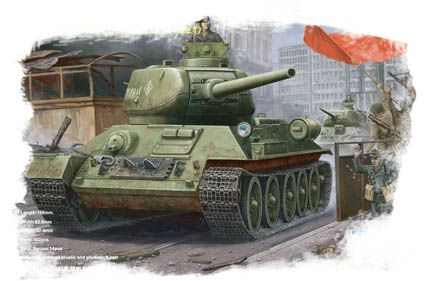 T-34/85 (model 1944 angle-jointed turret) Tank Hobby Boss