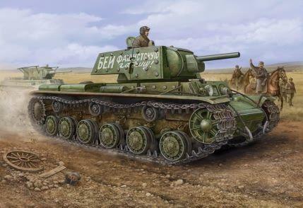 KV-1 s Ekhranami Hobby Boss