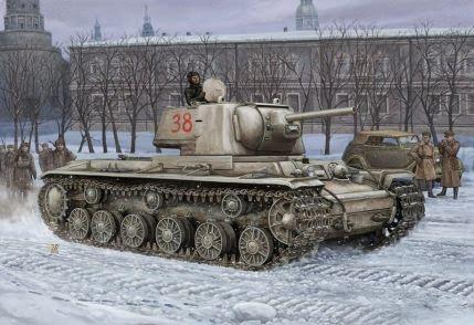 KV-1 mod.1941 Lighweght Část Hobby Boss
